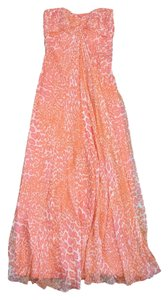 Maxi Dress by Laundry by Shelli Segal Orange & Pink Cheetah Print Maxi