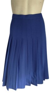 Biella Collezioni Pleated Pleats Skirt Blue