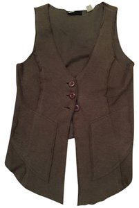 BDG Vest Buttons Button Down Shirt Olive Green