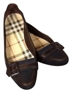 Burberry #blue Black and brown Flats