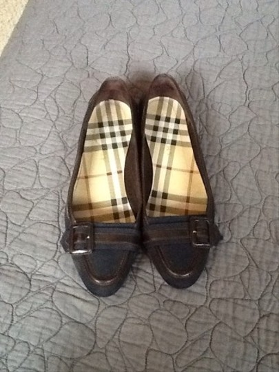 Burberry #burberry #flats #blue #leather Black and brown Flats