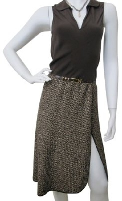 Preload https://img-static.tradesy.com/item/16303/moschino-brown-and-tweed-fabulous-darling-knee-length-night-out-dress-size-2-xs-0-0-650-650.jpg