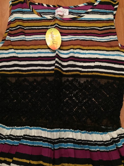 Nordstrom short dress Striped Rainbow Lace Sundress Coverup on Tradesy