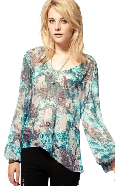 Stylestalker Small Free People Boho Chic Top Aqua
