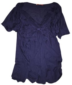 Velvet by Graham & Spencer V-neck Knot Top Midnight Blue