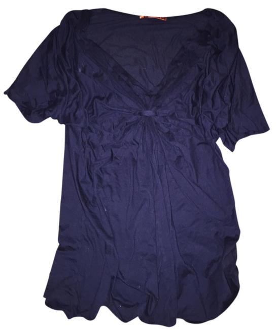 Preload https://item5.tradesy.com/images/velvet-by-graham-and-spencer-midnight-blue-knot-v-neck-blouse-size-12-l-1630334-0-0.jpg?width=400&height=650