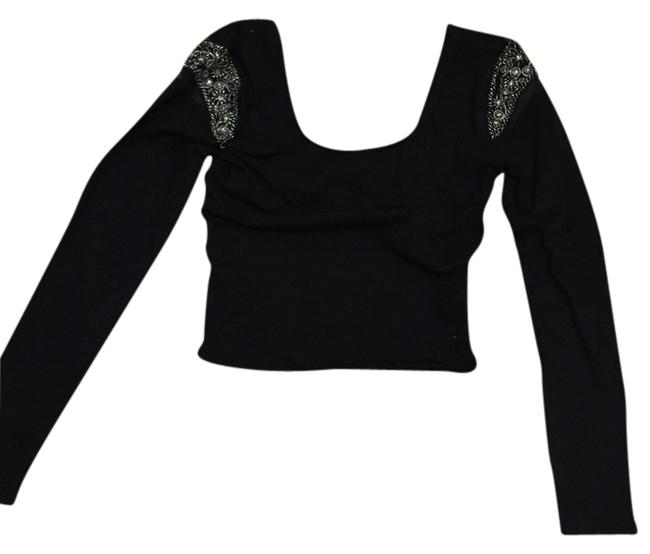 Preload https://item5.tradesy.com/images/sparkle-and-fade-black-long-sleeve-crop-night-out-top-size-4-s-1630354-0-0.jpg?width=400&height=650