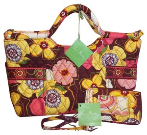 Vera Bradley Satchel in Brown / multi