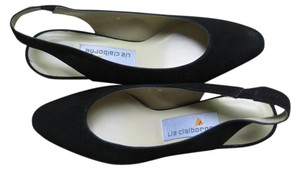 Liz Claiborne Made In Spain black suede Formal
