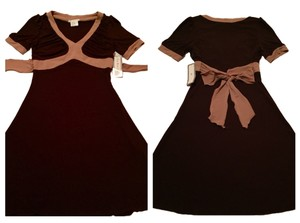 short dress Brown on Tradesy