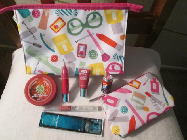 Item - White Aqua Blue Green Pink Orange Design Colors Bundle Includes 1 1 Small 1 Cherry Chubby Stick For Lips Other Lip Cosmetic Bag