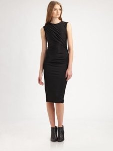 T by Alexander Wang Knit Ruched Bodycon Dress
