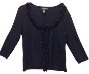 Cable & Gauge Silk Polyester Knit Sweater Cardigan
