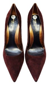 Sergio Rossi Classic Chocolate Suede Pointed Toe Heels Designer Brown Pumps
