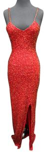 Cassandra Stone Beaded Red Prom Homecoming Dress