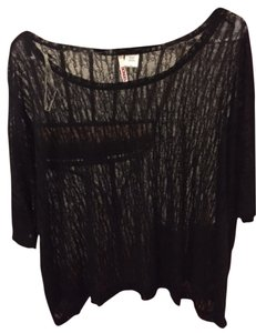 Bongo Sheer Shirt Top Black