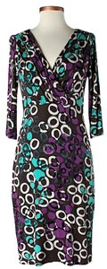 David Meister Print 3/4 Sleeves Dress