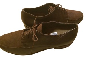 Munro American Leather Suede 9 Tied Tie Up Laces Black Brown Flats
