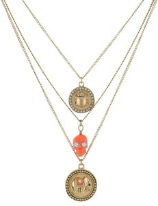 Juicy Couture JUICY COUTURE TRIPLE CHAIN DISC NECKLACE NWT