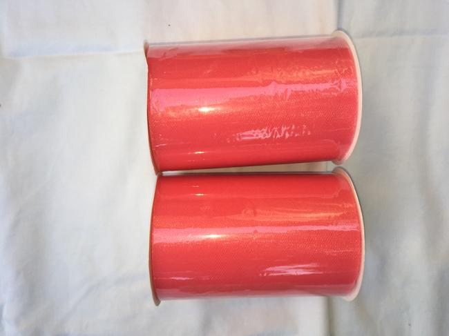 Item - Coral Two Rolls Of 6 In X 100 Yards Tulle.