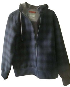 The North Face Black and blue plaid Jacket