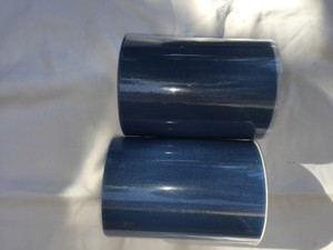 Two Rolls Of 6 In X 100 Yards Smoke Blue Tulle.