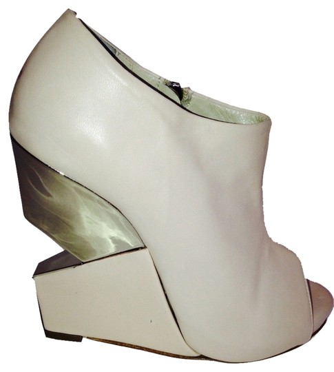 ON SALE Charline De Luca Cutout Ivory/Cream Wedges