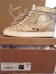 Christian Louboutin Rantus Glitter Sneakers Gold Flats