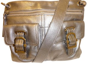 Etienne Aigner Refurbished Leather Metallic. Cross Body Bag