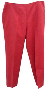 Piazza Sempione Rust Red Chic Italy Capri/Cropped Pants Red Rust