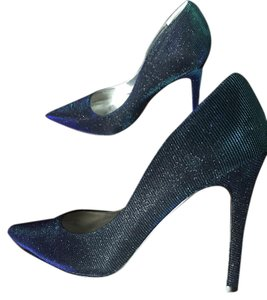 Nina Two-tone Sparkle Glitter Pointed Toe Blue Pumps