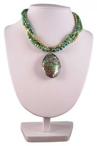 Jane Massie Creations Abalone and Pearl Choker Necklace