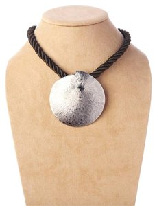 Theodora & Callum New Authentic Theodora & Callum Pewter Sand Dollar Necklace