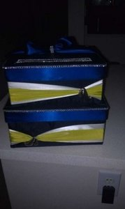Blue Apple Green Wedding Card Box