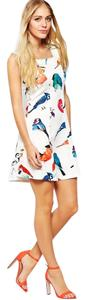 Bird Dress short dress White Print Skater Coachella on Tradesy