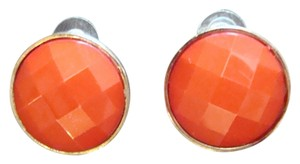 Fun Coral Color Costume Earrings