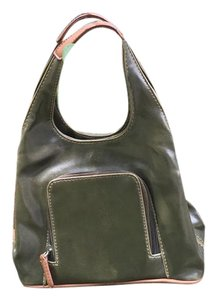 Nine West Classic All Season 3 Compartments Dress Up Or Down Olive Clutch