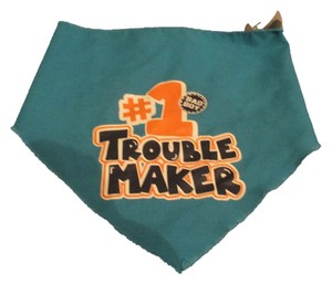 Wagatude Wag-a-tude Blue Dog Bandana #1 Trouble Maker Collar Small