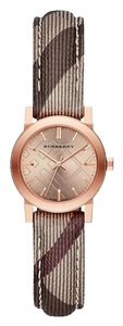 Burberry Burberry the City BU9236 Rose Gold Fabric Leather Check Watch