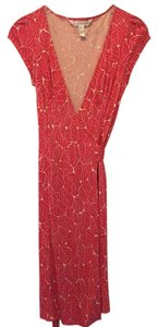 Diane von Furstenberg short dress Coral and White on Tradesy
