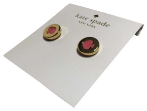 Kate Spade Kate Spade New York Spot The Spade Stud Earrings Flamingo Pink