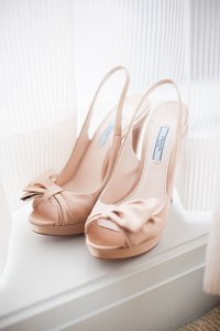 Prada Prada Satin Bow Blush Pink Slingback Pumps With Box And Dustbag Size 6.5 36.5 Wedding Shoes
