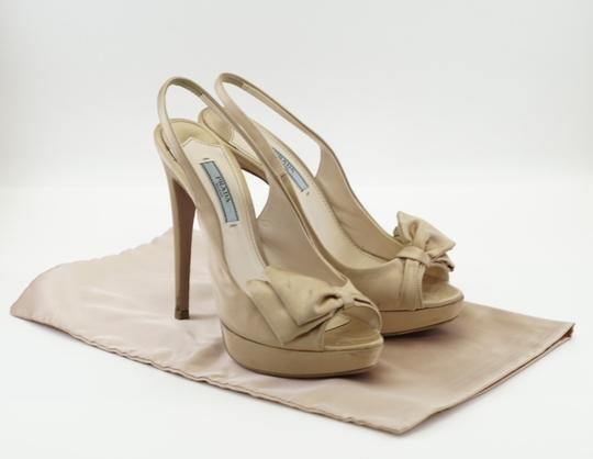 Prada Blush Satin Bow Pink Slingback with Box and Dustbag 3 Pumps Size US 6.5 Regular (M, B)