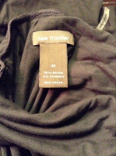 New Frontier Turtleneck Rayon Spandex Ruching Not Sweater