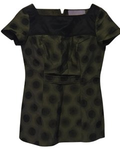 Vera Wang Lavender Label Top Olive and Black