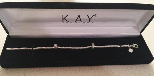 Kay Jewelers Kay Jewelers Sterling Silver Charm Bracelet with Swarovski Charms & Stoppers