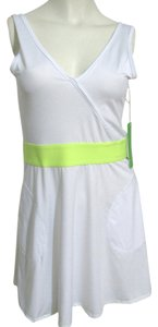 Kyodan New Tennis Neon Green Yellow Waistband Short Skirt Pockets Size Xs Xs 2 Sport Wear Women Nwt Dress
