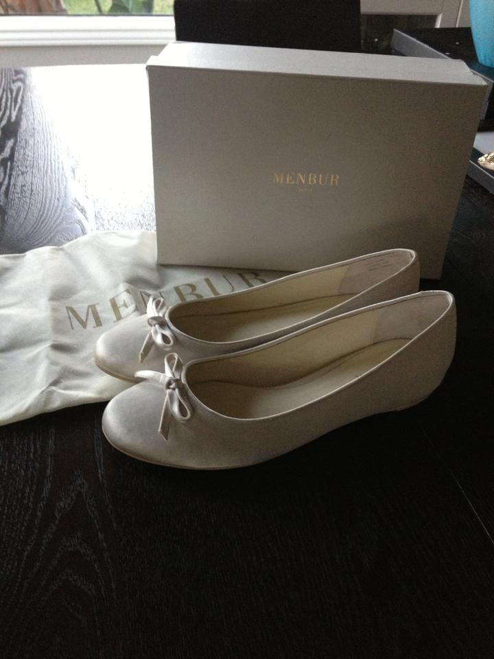 Formal Ivory Satin Bow Menbur Flats Detail with q6Yxx40p
