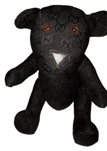 Gucci Black Gucci Monogram Teddy Bear