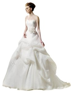 Enzoani Ball Gown With Lace Appliques Wedding Dress